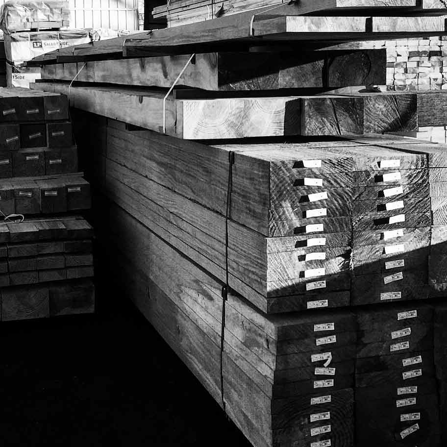 Heavy Treated Timber arrives from Texas sawmill - New Modern House 1 (Copperwood) - Zionsville, IN