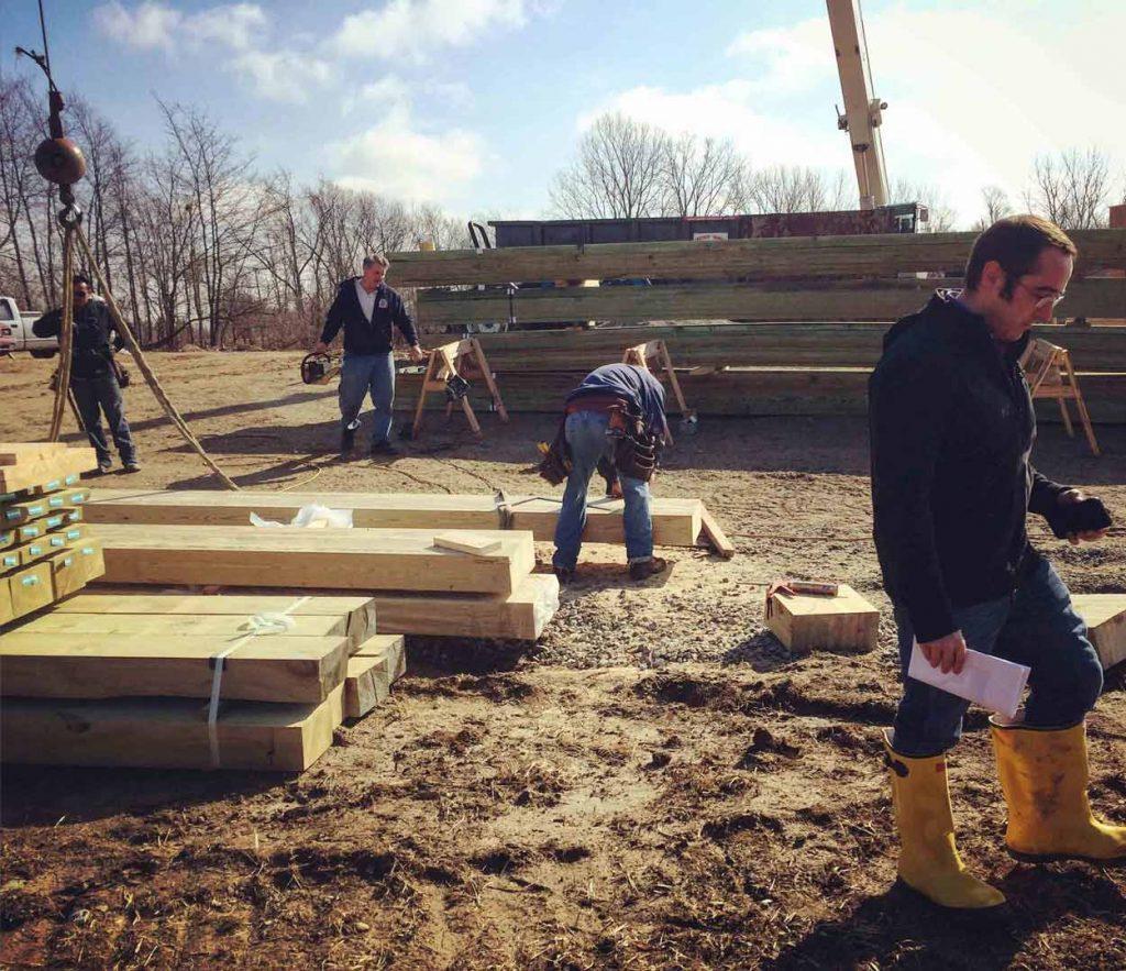Derek Mills Oversees Construction Progress at Copperwood