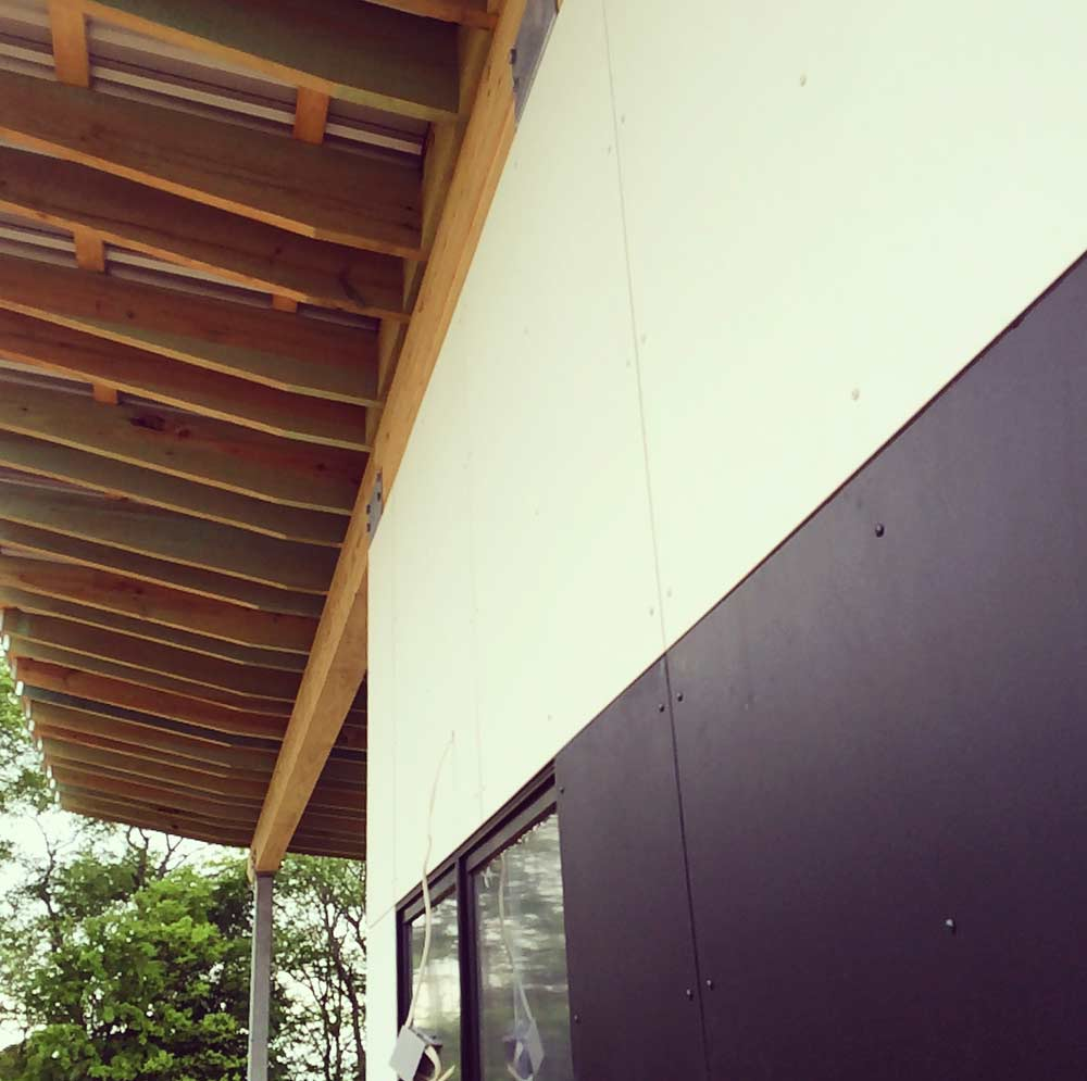 Rainscreen Siding Installation Progress - New Modern House 1 (Copperwood) - Zionsville, IN