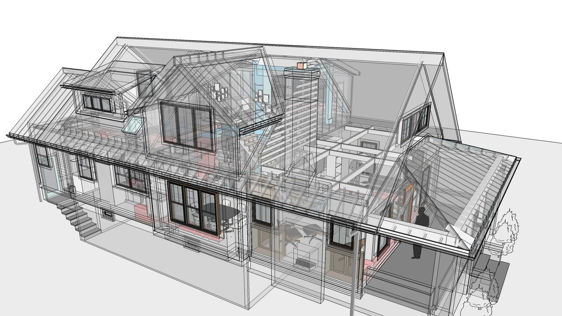 Broad Ripple Craftsman Renovation – See through diagram of the systems - Modern Craftsman Renovation - Indianapolis, IN