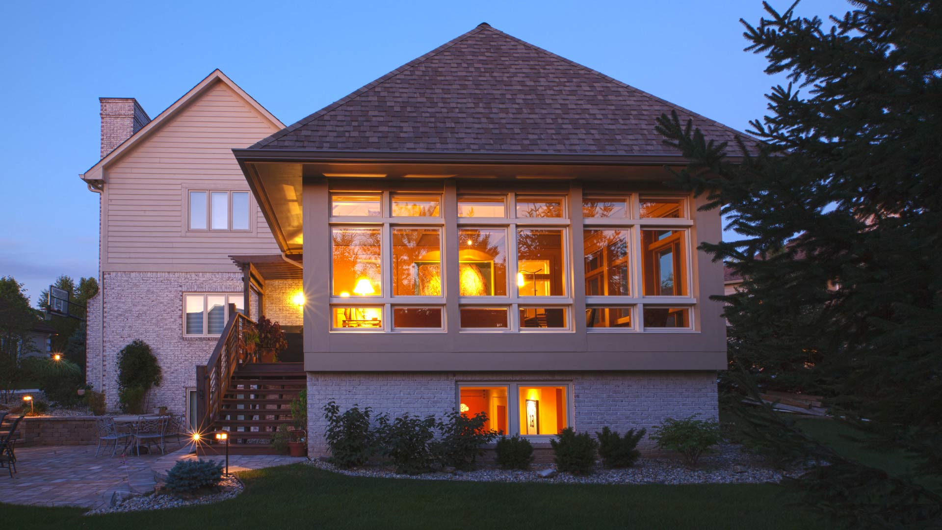 Exterior View of Sunroom Addition - Kitchen and Family Room Addition - Indianapolis, IN