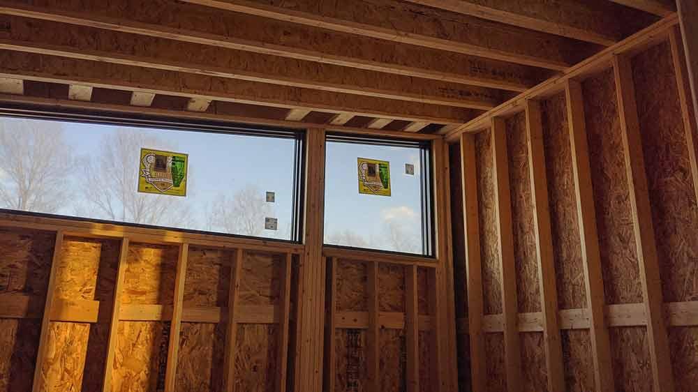 Clerestory Window in Guest Bedroom Framed - Back40House - Pendleton, IN