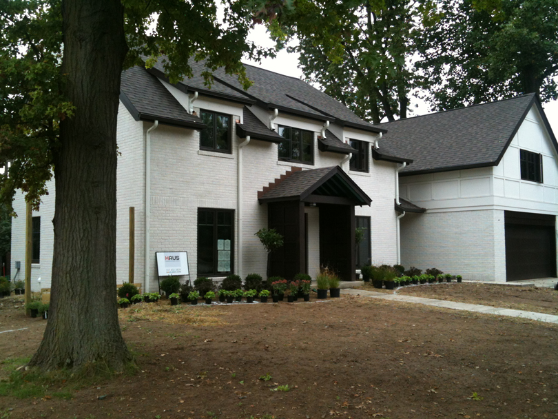 New construction is nearing completion - Butler Tarkington Modern Tudor - Indianapolis, IN