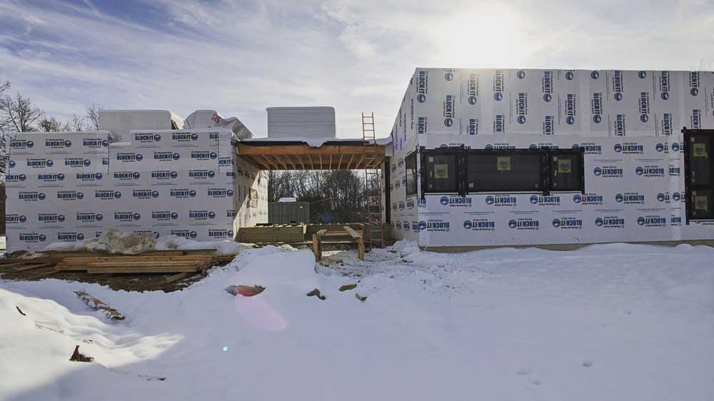 Framing Progress - View from North (November 2019) - Back40House - Pendleton, IN