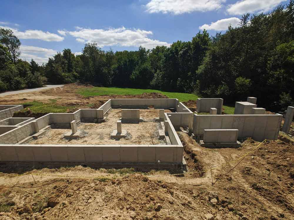 Foundations Completed - View from North - Back40House - Pendleton, IN