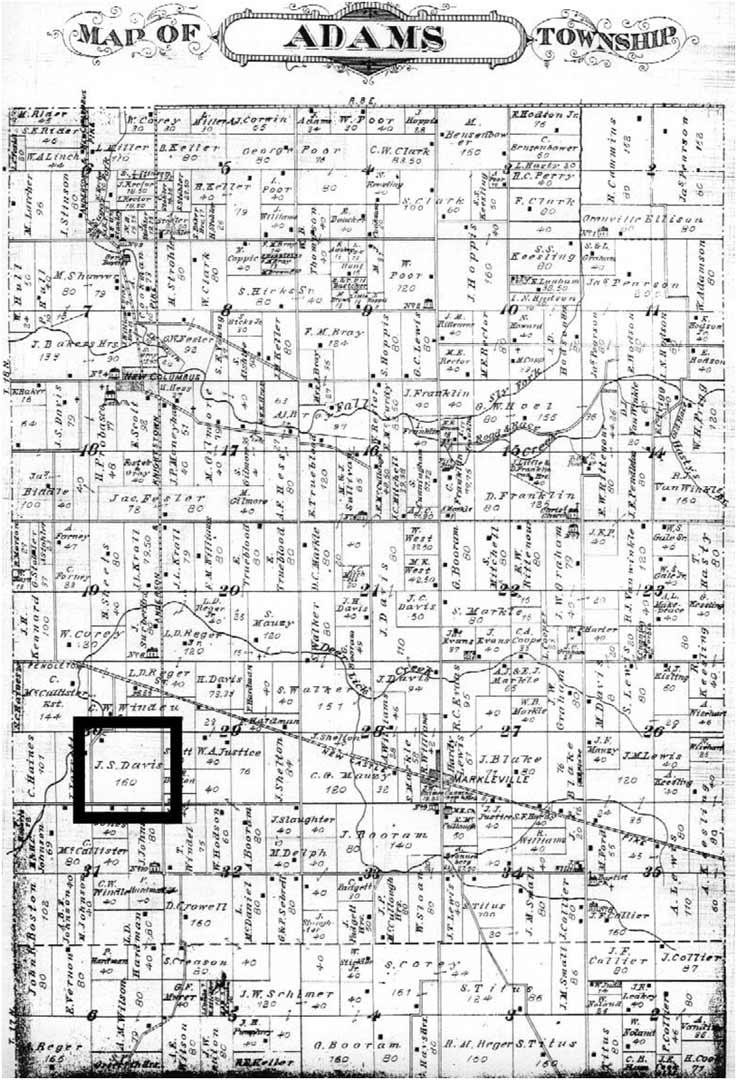 Historic Property Map - Back40House - Pendleton, IN