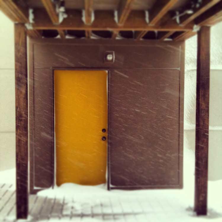 Blizzard View to Studio - Classic Irvington Tudor Remodel - Indianapolis, IN