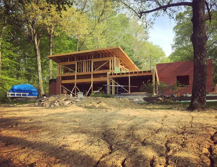 Upper roof finished-off (spring 2018) - Lakeside Modern Cottage (H-LODGE) - Unionville, Indiana, Lake Lemon
