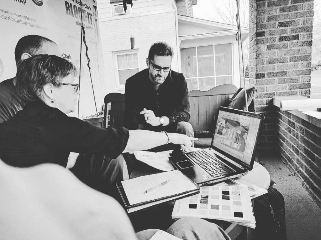 Broad Ripple Craftsman Renovation – Job site design meetings with the architect and contractor - Modern Craftsman Renovation - Indianapolis, IN