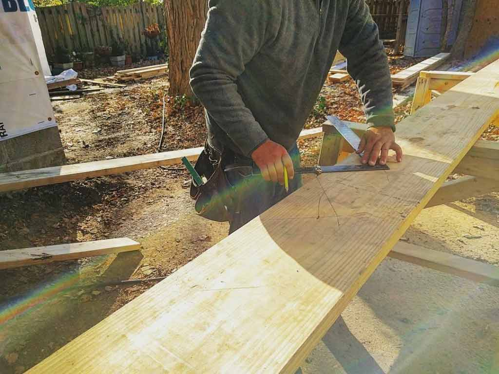 Building stair stringers - Modern Craftsman Renovation - Indianapolis, IN