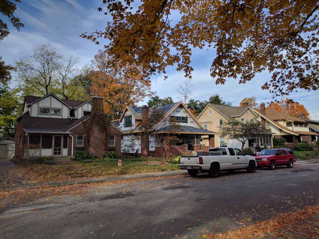 Broad Ripple Craftsman Renovation – All weathered in and ready for interior craft trades - Modern Craftsman Renovation - Indianapolis, IN