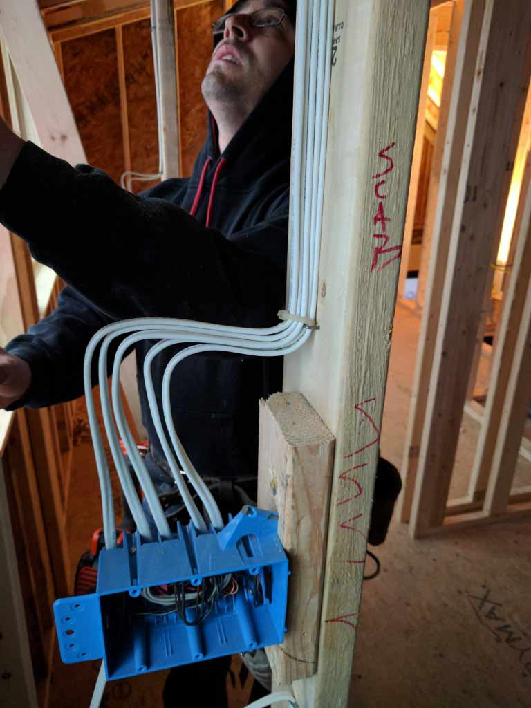 Broad Ripple Craftsman Renovation – It's good to see when other trades take pride in their work. This, along with a clean job site, are a couple of our favorite parts of construction - Modern Craftsman Renovation - Indianapolis, IN