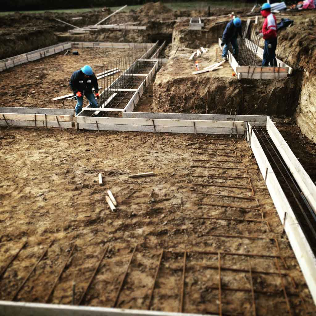 Footings Formed - New Modern House 1 (Copperwood) - Zionsville, Indiana