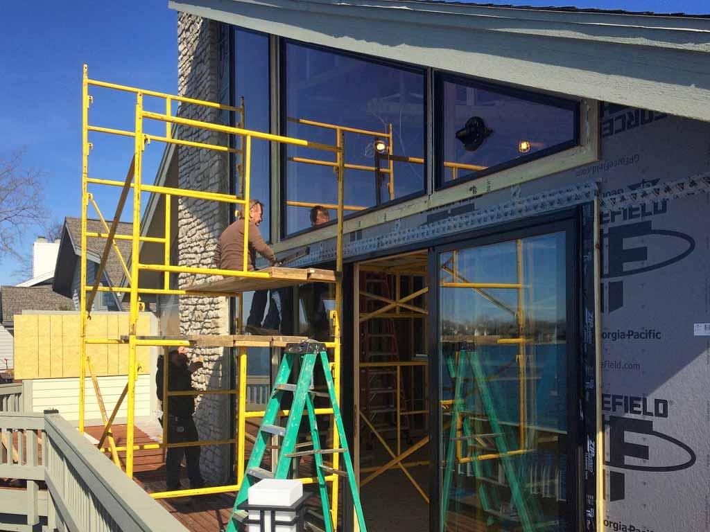Modern Lakehouse - Window Installation