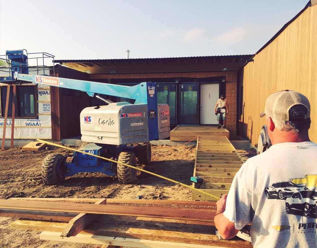 New Modern House 1 (Copperwood) - Thermally Treated Siding Installation