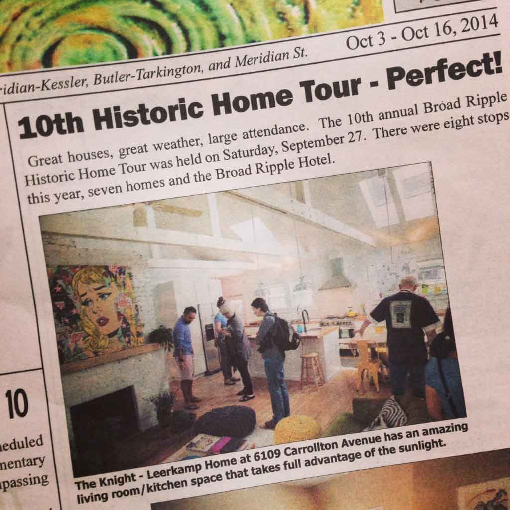 10th Historic Home Tour - Perfect! - October 16th, 2014 - Broad Ripple Bungalow Phase 1 - Indianapolis, IN
