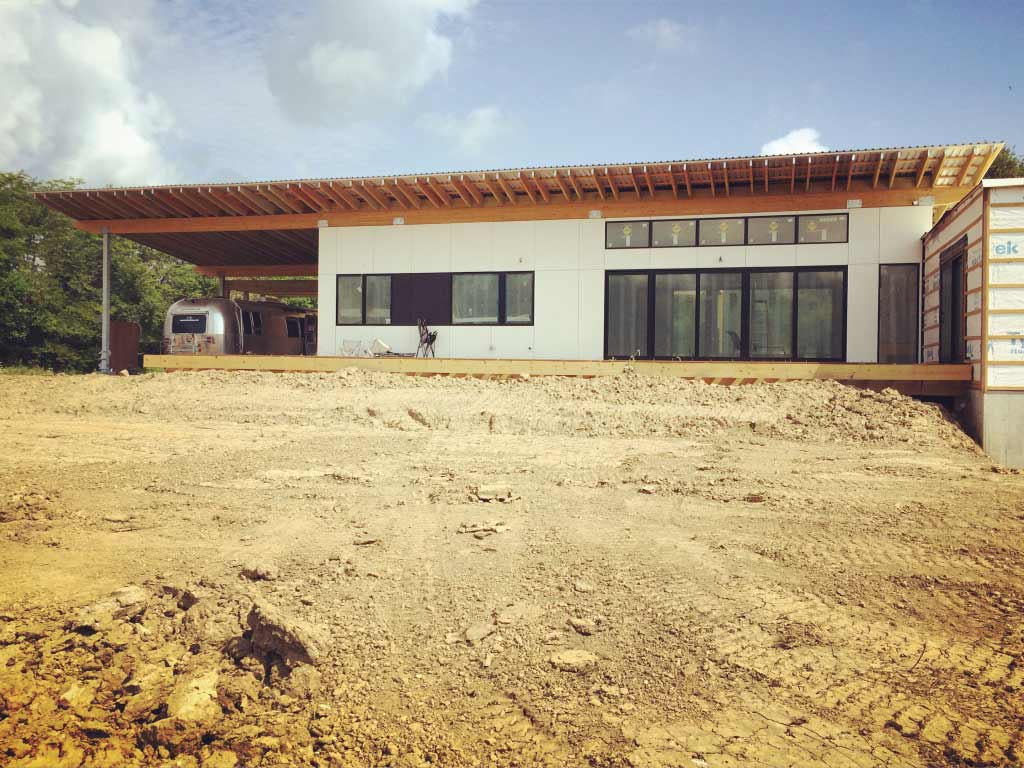 New Modern House 1 - Copperwood South Elevation Construction Progress
