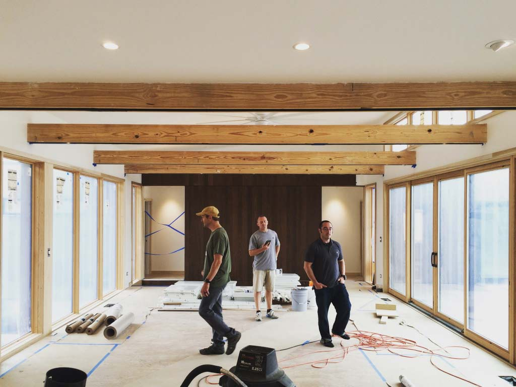 New Modern House 1 - Interior Progress - 3 Wise Guys - Kevin Swan, Chris Adams, Derek Mills