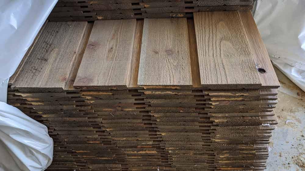 Rustic Channel Cedar Siding - Back40House - Pendleton, IN