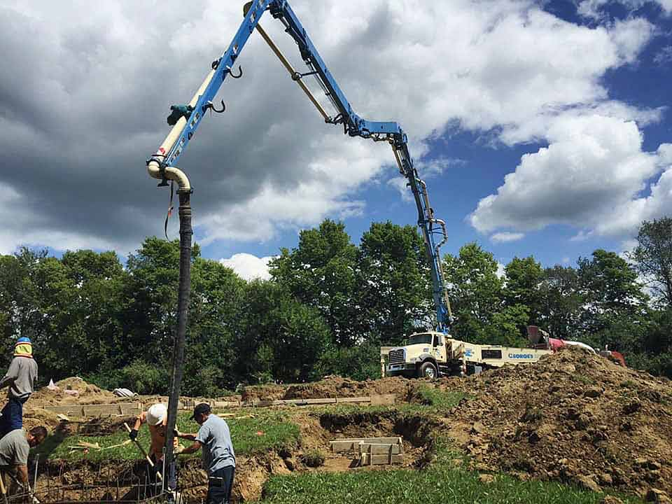Placing Concrete Footings - Back40House - Pendleton, IN