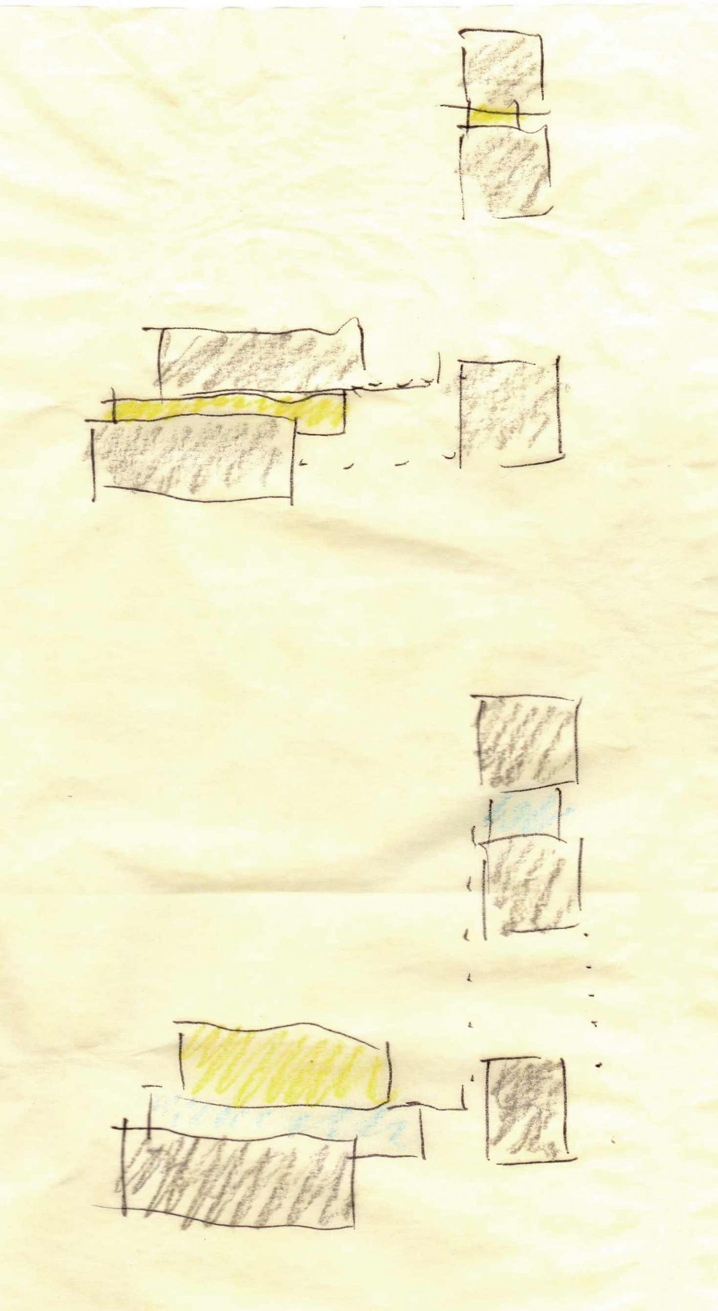 Concept Diagram Options (Material Study) - Back40House - Pendleton, IN