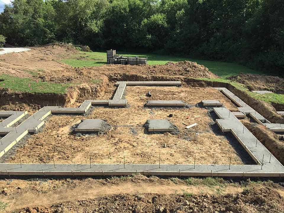 Footings Placed - Back40House - Pendleton, IN