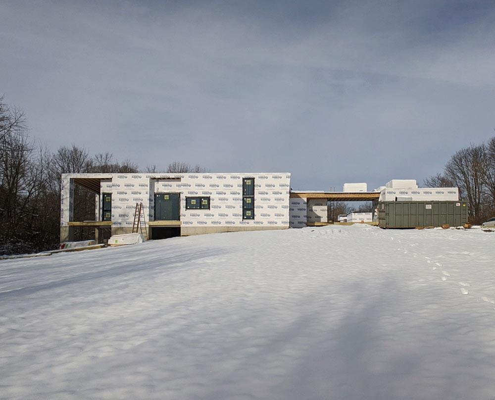 South Elevation Progress Photo - Back40House - Pendleton, IN