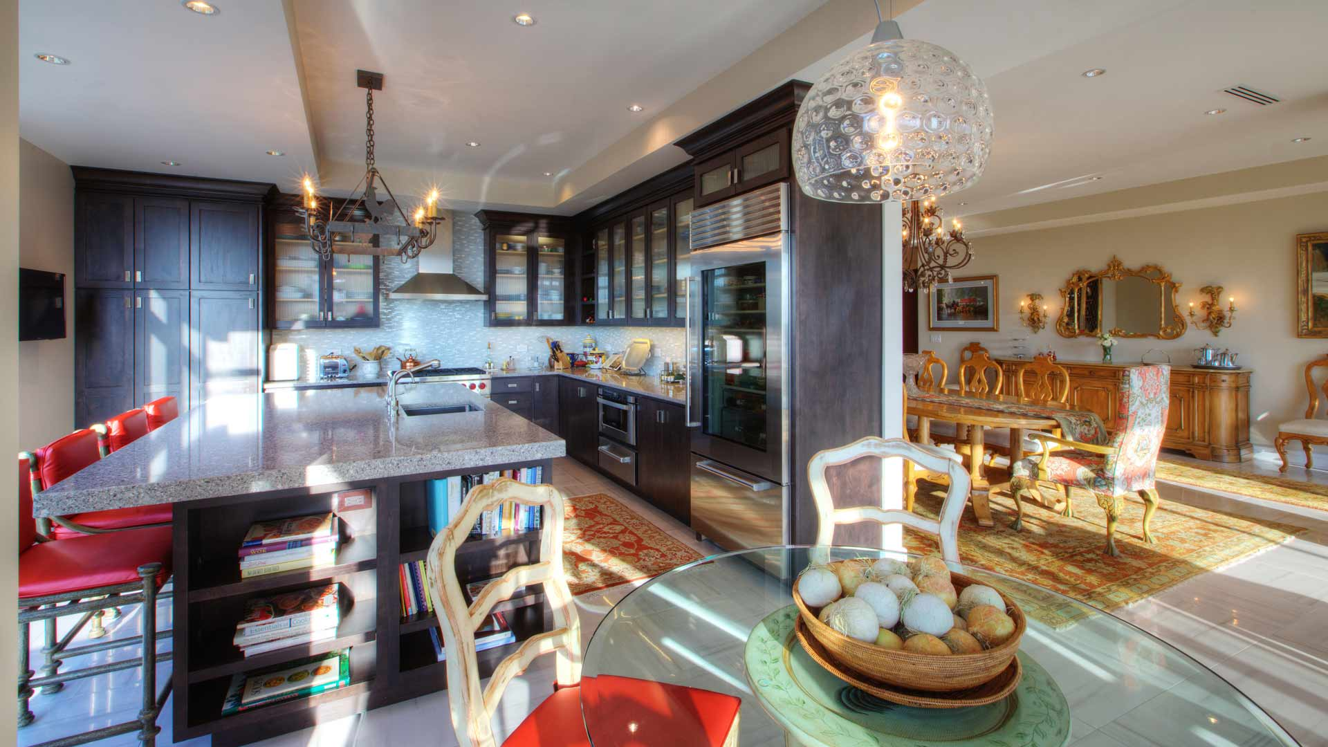 Kitchen + Dining Areas - Eclectic Modern Interior - Indianapolis, IN