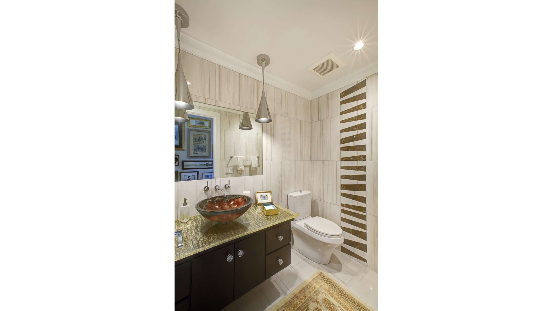 Powder Room - Eclectic Modern Interior - Indianapolis, IN