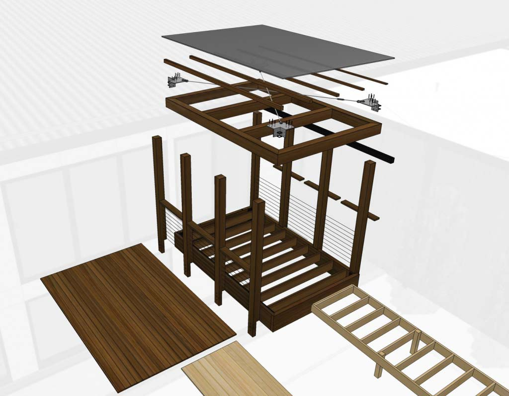 New Modern House 1 (Copperwood) - Canopy Kit of Parts