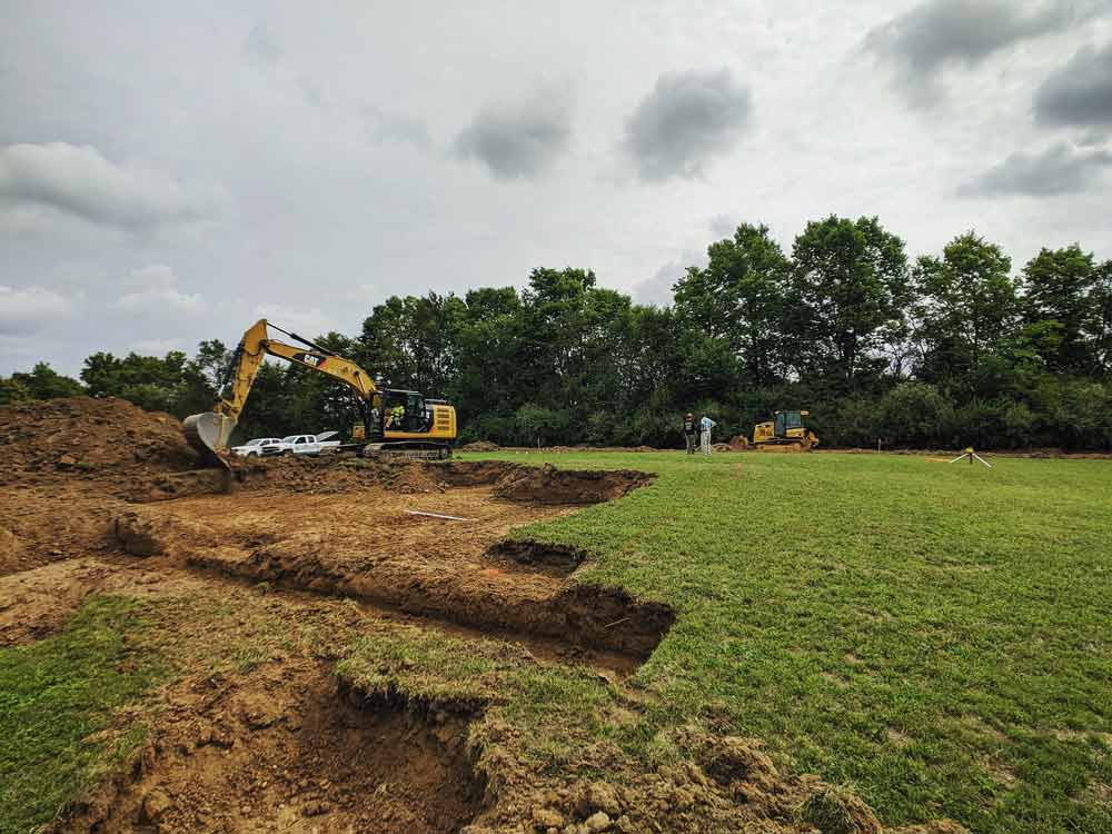 Excavation Begins - Back40House - Pendleton, IN