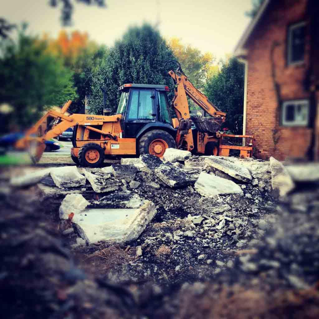 Concrete Slab and Foundation Demolition - Butler Tarkington Modern Tudor - Indianapolis