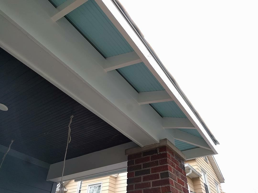 Eave Details Painted a Shade of Blue - Broad Ripple Modern Craftsman Dwelling on Carrollton Avenue - Indianapolis