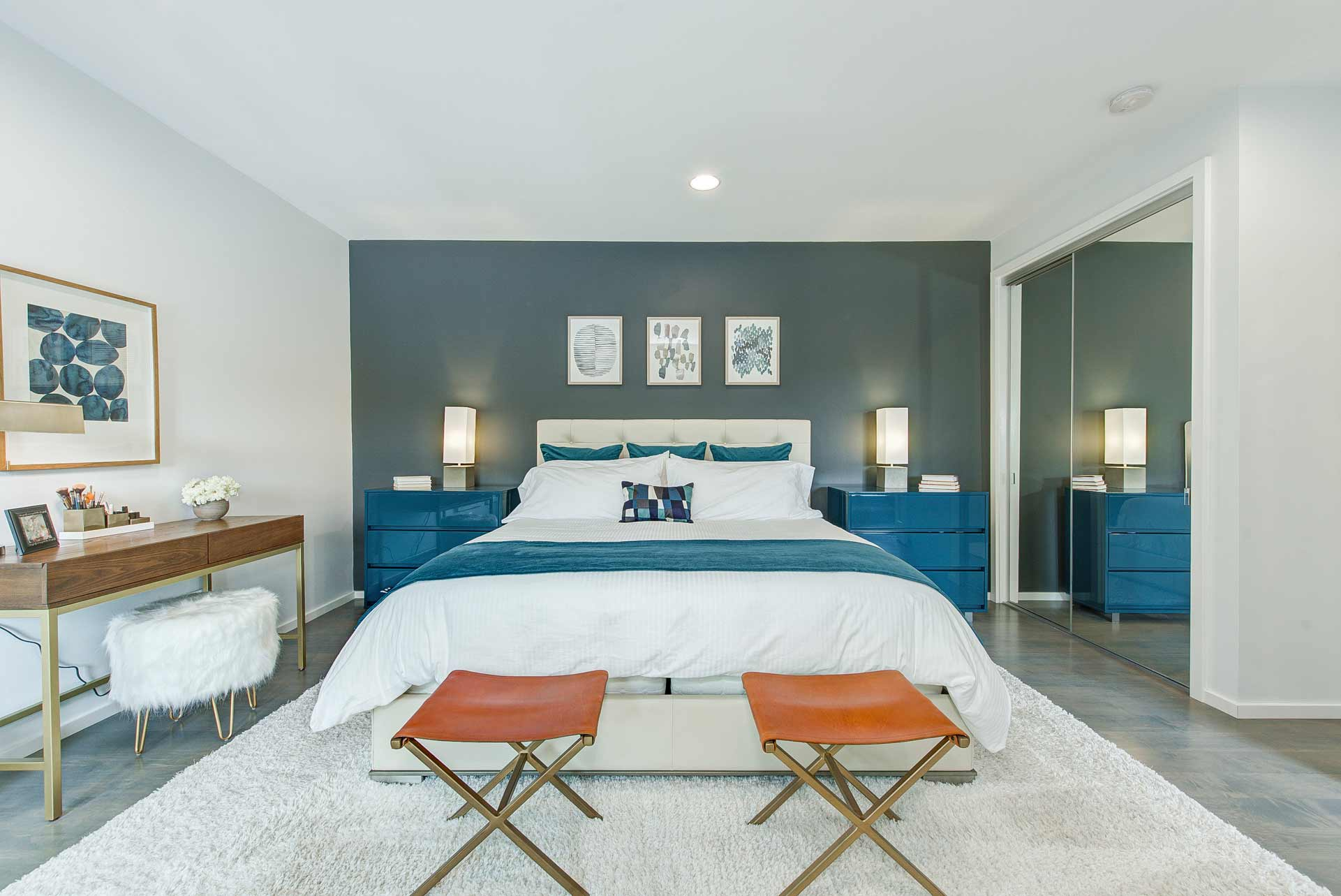 Master Bedroom - Reef Court Light Renovation - Geist Reservoir - Indianapolis, IN - Photo by Structured Photography