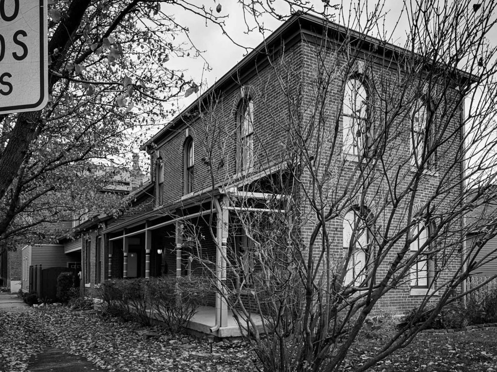 Fletcher Place Historic Renovation - Exterior Elevation - black and white - Indianapolis, IN