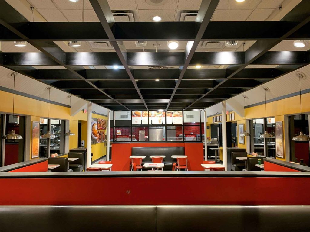 Architectural Ceiling Grid Installation - Nick's Chili Parlor - Lafayette Road - Indianapolis, IN